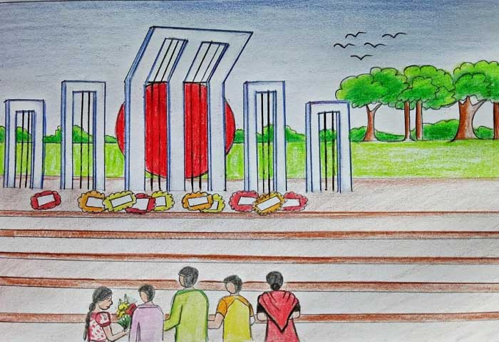 shahid minar drawing images Free Download