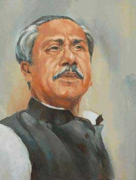 Sheikh Mujibor Rahman art picture