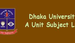 DU A Unit Subject List