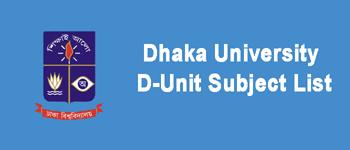 DU D Unit Subject List