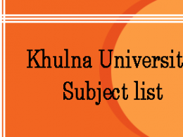 Khulna University Subject list