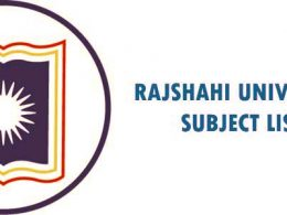 Rajshahi University Subject List