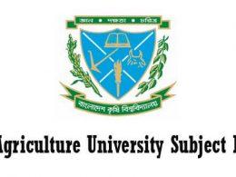Agriculture University Subject List