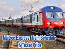 Maitree Express Train Schedule