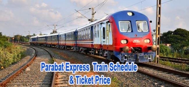 Parabat Express Train Schedule